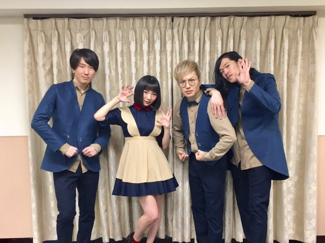 2017 1/28、リスアニ!ライブ2017本番終了後の楽屋にて。